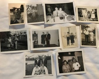 Vintage Photographs - Couples - SALE - 10 for Ten Dollars - Vernacular, Black and White Snapshots, Ephemera