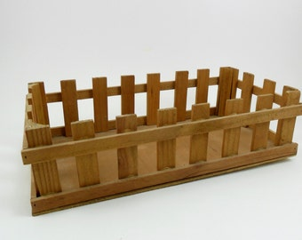 "1 Wood Crate Craft Show Display / Storage 9 1/2"" x 5"" x 2 1/2"""