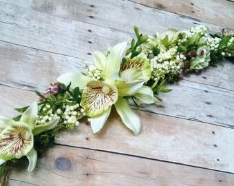 orchid headband, Ready to ship,halo headband,flower girl headband,bridal headband,flower crown, destination wedding, tropical headband