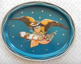 Vintage  Americana Tray  American Eagle