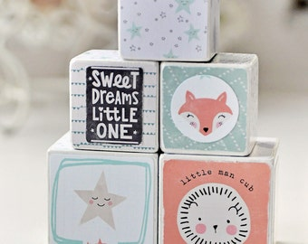 Decorative wooden blocks cute and trendy