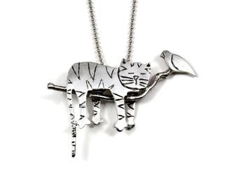 Sterling Silver Kitty Cat Jewelry, Unusual Jewelry Gift For Women, Kitty Lovers Jewelry, Robin Wade Jewelry, Kitty Madison Takes A Nap, 2454