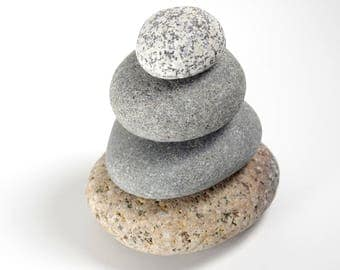 Rock Cairn Maine Beach Stones Zen Spiritual Inspirational Meditation Rocks