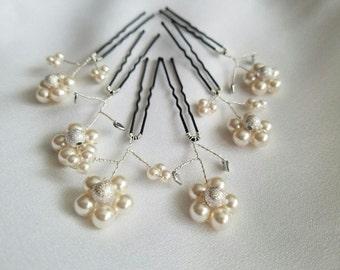 Swarvoski pearl hair pins
