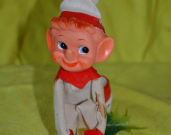 Vintage White Elf Pixie Knee Hugger, Made in Japan