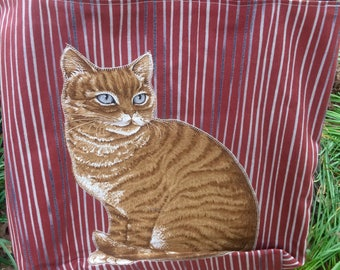 SALE  Cat Bag , Cat Tote , Cat Lover , Shopping Bag
