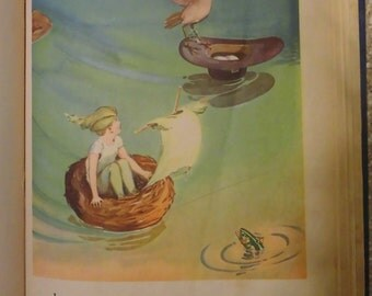 Book Peter Pan Picture Storybook Antique 1931 Children's Stories Collectible Book