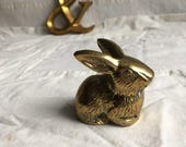 Vintage brass rabbit  little brass bunny  easter brass bunny