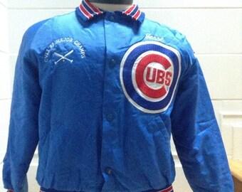 SALE Vintage 80s Boys Chicago Cubs Jacket LARGE