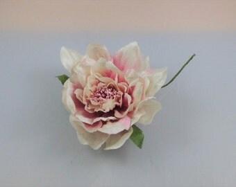 Millinery Flower/leaves/tassel bundle - Pink