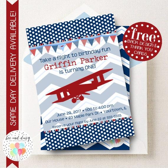 Airplane Invitation Airplane Birthday Invitation Airplane Birthday
