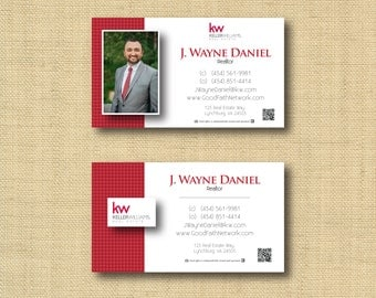 Digital File | Custom Business Card Design Houndstooth | Any Color Any Company