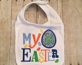 My First Easter Appliqued Bib