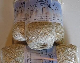 Cotton/Viscose Knitting and Crochet Yarn. 400g of NEW YORK, a lovely glitzy knitting and crochet cotton/viscose yarn