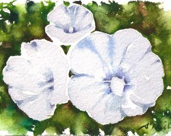 "mini painting ""Hibiscus"", original watercolor painting by Sumiyo Toribe"