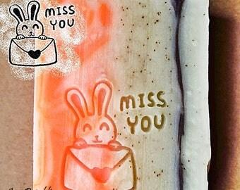 SoapRepublic Miss You Acrylic Soap Stamp