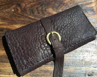 Leather trifold wallet, Quality leather wallet, Lambskin leather, Wallet with zipper pocket, Luxury gifts for her, Luxury wallets, Handmade