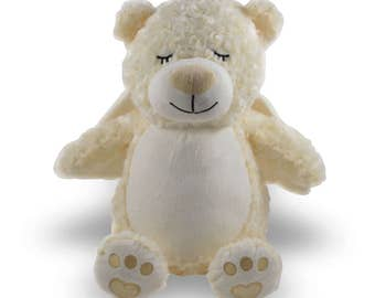 Personalized Stuffed animal,  stuffed animal, stuffed animal, 1 day ship, stuffed angel bear, personalized bear