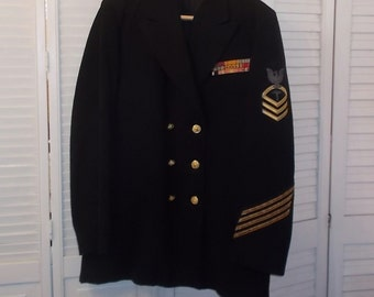 Vintage US Navy Chief Petty Officer Jacket-Medical insignia-Campaign Badges