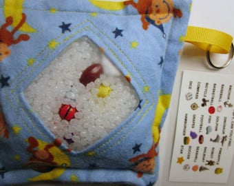 I Spy Bag, Moon Monkey, Boys contents, car travel toy game, Eye Spy Game, seek and find, sensory occupational therapy, busy bag, stimming