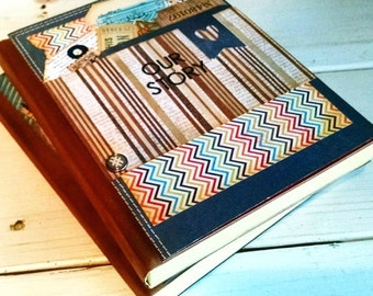 Our Story Journal Notebook Diary Life Story Anniversary Couples Family Wedding Guest Book Sketchbook Art Journal Keepsake Unlined Pages