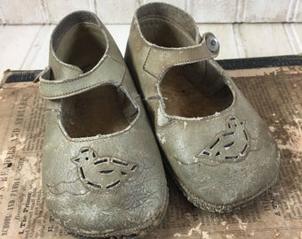 Vintage Shabby Chic Baby Shoes