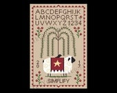 Simplify Sampler, Sheep Sampler, Primitive Cross Stitch, Sheep Cross Stitch, Country Sampler, Country Cross Stitch, Crow, NewYorkNeedleworks