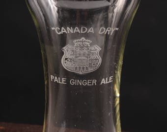 Vintage Canada Dry Pale Ginger Ale Glass