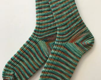 Ladies' Wool Socks, Knit Picks, Merino,  Hand Cranked