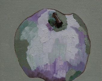 Still life apple, original oil painting