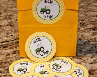 "Tractor Treat Bag Stickers 2.5""- 20 pack"