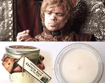 Game of Thrones Casterly Rock Tyrion Lannister Scented Hand Poured Natural Soy Wax Candle - 8oz jar