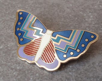 Laurel Burch Papillon Butterfly Brooch Enameled Vintage 032917BT