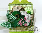 St Patty Tag Holiday Home Decor Polly's Paper Studio Handmade