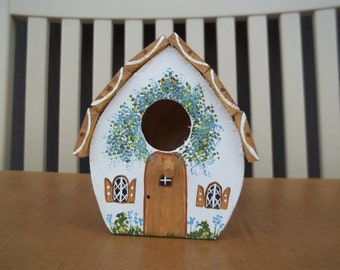Small White Birdhouse #240
