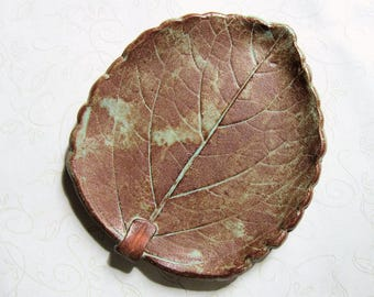 All The Leaves Are Brown Pottery Leaf Spoon Rest