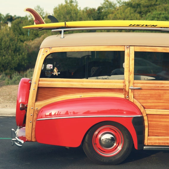 Canvas Wraps, New In Shop, 12x12, Ready To Hang, Photography Wall Decor, Fine Art Photo, Classic Woodie, Summer Surf