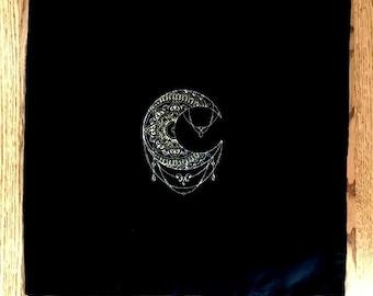 Metallic Mendhi Moon Tarot/Altar Cloth