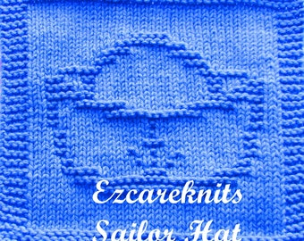Knitting Cloth Pattern - SAILOR HAT