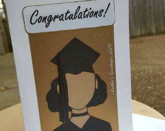 Congratulations GREATNESS - Handmade Girl/Woman Graduation Card