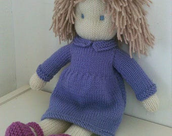 Doll knitting Pattern- Molly - Instant Download