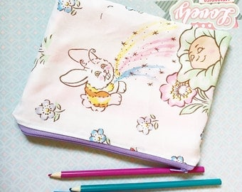Cabbage Patch Kids zipper clutch pouch cosmetic pencil bag upcycled vintage style