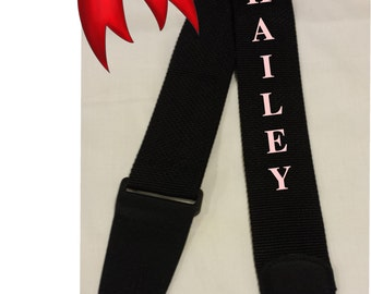 GUITAR STRAP Custom Embroidered Nylon Guitar Strap with PERSONALIZED name