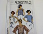 Simplicity 6848: Misses' Set of Tops UNCUT (1985)