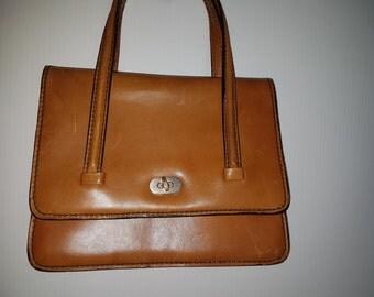 Vintage 1980s brown leather satchel vintage bags by VintageTwists