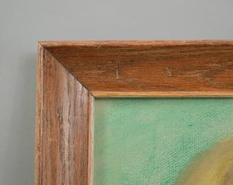 Vintage Wood Picture Frame Rustic Oak Frame 12 X 16 Distressed Red Oak Frame Plain Oak Frame with Glass Oak Art Frame