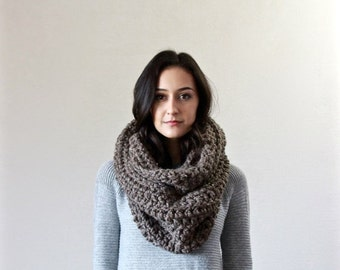 End of season SALE Chunky Infinity Scarf. loop scarf. circle scarf, cowl, snood  // The Bastille - BARLEY