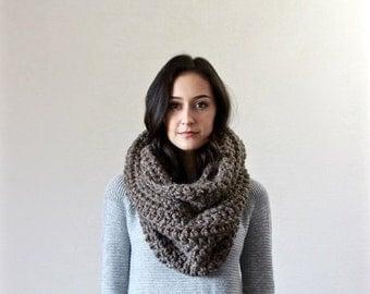 End of season SALE Chunky Infinity Scarf. loop scarf. circle scarf, cowl, snood  // The Bastille - BARLEY