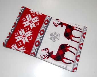 SALE, Rice Heating Pad / Ice Pack, 5 X 8 Christmas Deer