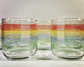 Anchor Hocking Striped Textured Glasses